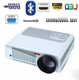 Smart 3500Lumens 3D 4K LED Video Projector Bluetooth Home Th