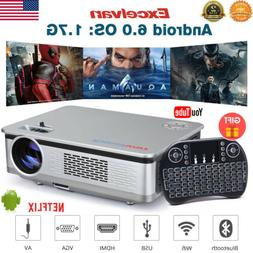Smart Android IOS LED Bluetooth Projector 1080P 3D Wifi Home