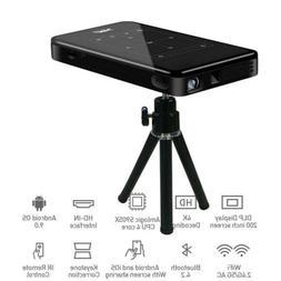 Smart DLP WiFi Mini Projector 1+8G / 2+16G 4K HDMI USB Bluet
