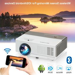 Smart HD Android Projector Wifi Bluetooth Video Home Theater