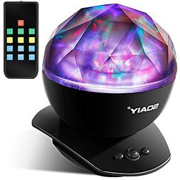 SOAIY Soothing Aurora LED Night Light Projector with UL Cer