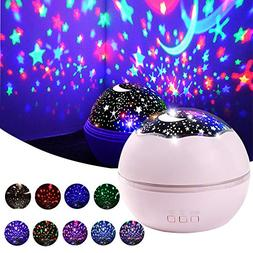 Star Projector Light, Night Lamp Romantic Rotating Sea Anima