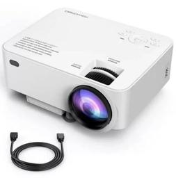 DBPOWER T2 mini projector 1500lm - White Version - Free Ship