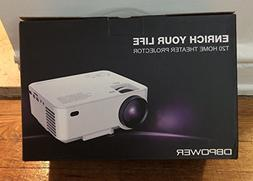 T20 1500 Lumens LCD Mini Projector, Multimedia Home Theater