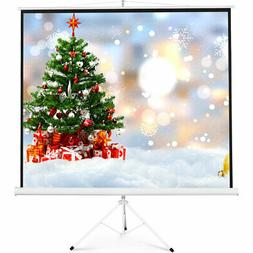 "New 100"" Tripod Portable Projection Screen Square 70x70 Proj"