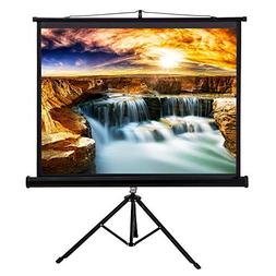"""50"""" Tripod Stand Style Video Projector Screen Easy Fold-Out"""