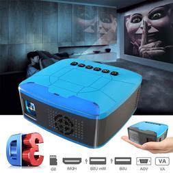 U20 mini palm <font><b>projector</b></font> USB HDMI AV <fon