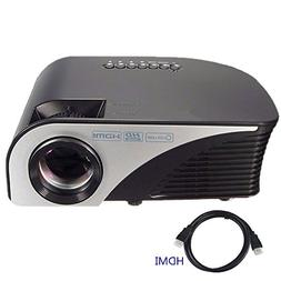 "Projector,XINDA Video Projector +80% Lumens for 170"" Home"