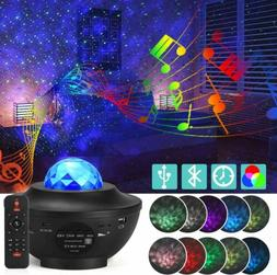 US LED Starry Night Sky Projector Lamp Ocean Wave Star Light