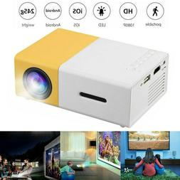 US Portable Multimedia LED Projector 1080P Mini Home Cinema