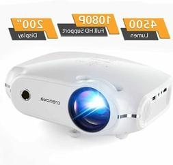 Video Projector 1080P HD Supported 4500Lux Noise Canceling H