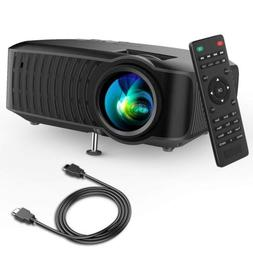 """Video Projector, DBPOWER 120 ANSI Home Projector 176"""" Displa"""