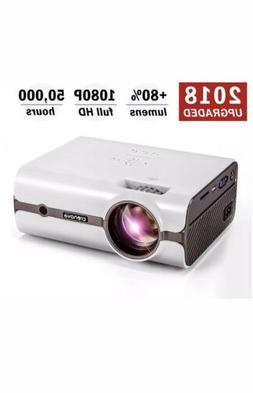 Video Projector, 2018 Upgraded  Crenova XPE496 1080P HD Home