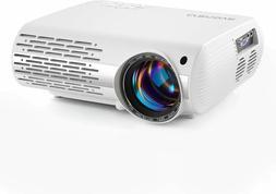 Crenova Video Projector, 6800 Lux Home Movie Projector, 200'
