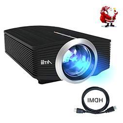 "Video Projector Artlii Portable Movie Projector w/ 130"" Scre"