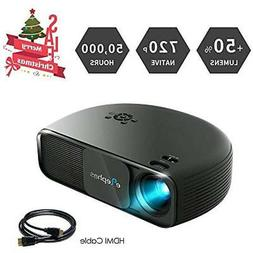 ELEPHAS Video Projectors 720P HD LED Movie Projector, LCD Su