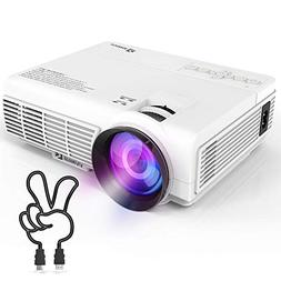 VIVIMAGE C3 Portable Projector with 2400 Lux, Mini Home Cine