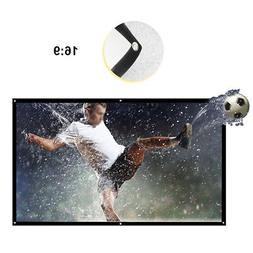 "Wall Mounted 84"" Home Movie Video HD Projection Screen Pull"