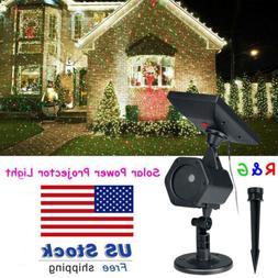 Waterproof LED Solar Power Spot Projector Laser Light Outdoo