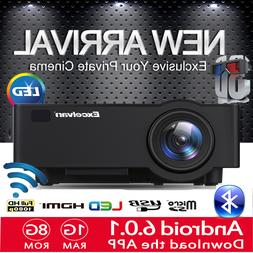 Wifi Android Multimedia Home Theater Projector 3600Lumens FU