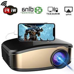 WiFi Projector, iBosi Cheng Portable Mini LCD Video Projecto