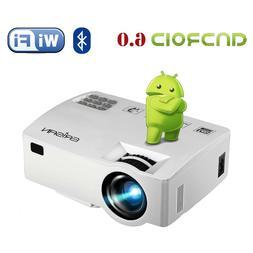 Wireless 1080P HD 5000 Lumens LCD Projector Home Theater Cin