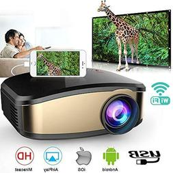 Wireless WiFi Projector, Portable Mini For IPhone Android Mo