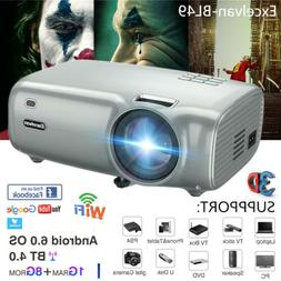 1080P Wifi BT LCD Projector 3D Home Theater 5000lm For Lapto