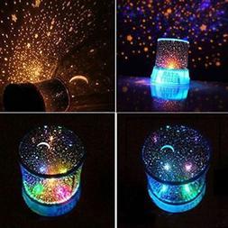 Xmas LED Romantic Starry Sky Galaxy Projector Lamp Star Cosm