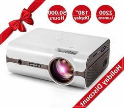 Crenova XPE496 Projector –2200 Lumens  Home/Theater/Outdoo