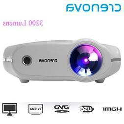 CRENOVA XPE498 New Portable Projector For Full HD 4K*2K 3200