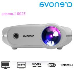 Crenova XPE498 portable projector HD 4K 3200 Lumens HDMI Hom