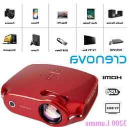 Crenova XPE498 projector LED 3200 Lumens HD 4K*2K HDMI Home