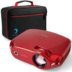 Crenova XPE498 Video Projector, Multimedia Home Theater with