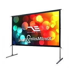 Elite Screens Yard Master 2 Dual, 150 inch Outdoor Front Rea