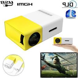 YG300 Mini Portable Multimedia LED LCD Projector Full HD 108